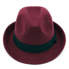 Men Women Kids Children Boys Girls Wool Fedora Hats Trilby Caps Sunhat Panama