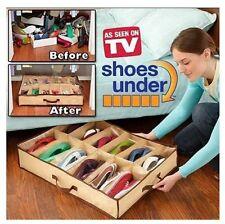 4 X boite rangement organisateur chaussure sous le lit - 12 paires - vu à la TV