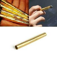 10pcs 24k Gold Classic Cigarette Smoking Tobacco Cigar Rolling Pre-Rolled P E6M8