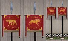 Roman Italian legion standard signum ITALICA vexillum legionary LEG I 1 LEG II 2