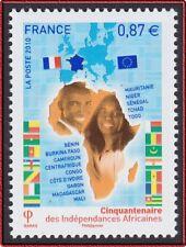 2010 FRANCE N°4496**  Indépendances africaines, Carte AFRIQUE, France 2010 MNH