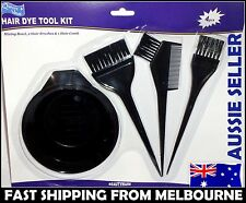 Hair Color Dye Bowl Comb Brushes Kit Set Tint Coloring Bleach Hairdressing Salon