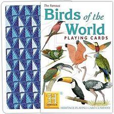Birds Of The World Conjunto De 52 Jugar Tarjetas + Bromistas ( Hpc )