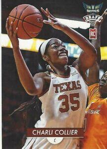 * CHARLI COLLIER * TEXAS LONGHORN TRADING CARD #1 WNBA DALLAS WINGS ROOKIE DRAFT
