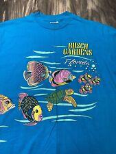 New listing Vtg Busch Gardens Ocean Sea Fish Shirt Single Stitch Xl Double Sided All Over