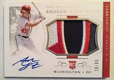 ANDREW STEVENSON 2018 NATIONAL TREASURES AUTO ROOKIE PATCH SP #'d18/99 NATIONALS