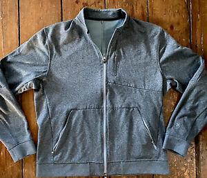 NICE Men's Lululemon Size XL  Athletic Full Zip Jacket Gray Great Condition!