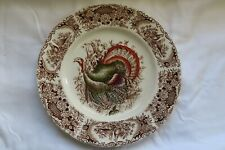 Johnson Brothers Windsor Ware Wild Turkeys Plate Made in England
