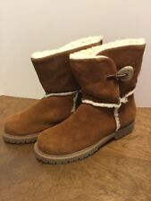 Ciao Sport Suede Leather Boots Womens 8M Fleece Lined Brown ERIN