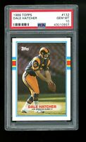 1989 Topps #132 Dale Hatcher Los Angeles Rams PSA 10 GEM MINT!