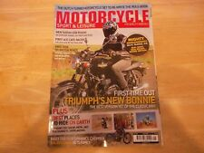 MOTORCYCLE SPORT & LEISURE #584 MAY 2009 PRISTINE SEE PHOTO FOR CONTENT TRIUMPH