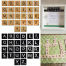 Holz Scrabble Fliesen Schwarz Buchstaben Zahlen Basteln Alphabet Wandkunst 10pcs