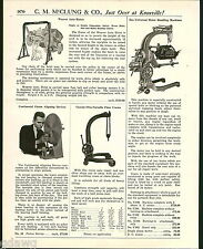 1921 ADVERT Eco Universal Portable Floor Crane Weaver Auto Cat Hoist Motor Lift