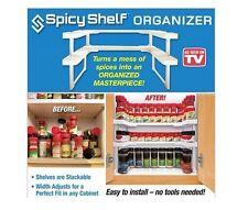 Spicy Shelf 64 Spice Jar Rack Stackable Organizer Storage Cabinet Cupboard On TV