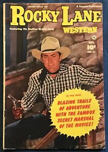 Rocky Lane Western #41  Sept 1952 Fawcett Photo Cover