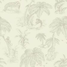 Palma Sola Neutral Paste the Wall Feature Wallpaper 98370