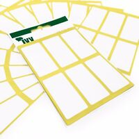 360 Self Adhesive Sticky White Labels / Stickers - 34 x 75mm - Ivy Stationery