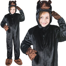 Girls & Boys Gorilla Costume World Book Day Week Fancy Dress Outfit Jumpsuit