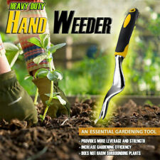 Heavy Duty Hand Weeder Garden Weeding Removal Cutter Tool with Ergonomic Handle.