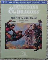 X10 - Red Arrow, Black Shield - Dungeons & Dragons Expert Adventure - D&D TSR #2