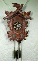 Vintage Hubert Herr Cuckoo Quail Clock  Keeps Time, Cuckoos Hour, Quails Quarter