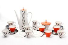 Black and orange - 10 person coffe set - Freiberger porcelain - '70s - Germany
