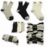 cats 3or12 Pairs Men Crew Sport Socks Cotton Calf Cushioned White, Gray, Black