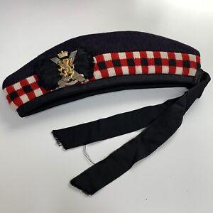 ROYAL REGIMENT OF SCOTLAND GLENGARRY BONNET W Badge  - Size: 57cm ,British Army