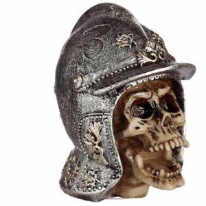 Skull Wearing Medieval Helmet Resin ornament gift