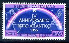 PATTO ATLANTICO - 1953 VARIETA'  DOPPIA STELLA  NUOVO **