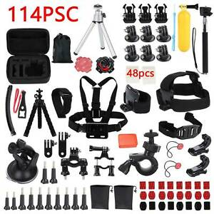 114Pcs/Kit GoPro Accessories Action Camera Accessory Chest Strap Head Mount UK