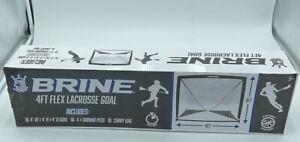 Brine 4ft Flex Lacrosse Goal - 4' x 4' x 4', 4 Ground Pegs, Carry Bag