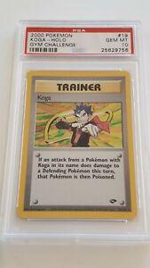Pokemon gym challenge Koga holo rare 19/132 PSA10