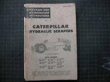 Caterpillar Scraper Operation Maintenance Manual CAT