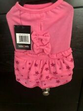 New listing Bailey & Bella Dog Couture Pink Dress W Stars Bow Nwt Med Adorable! Free Ship