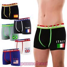 Boxer uomo mutande BANDIERE mondiali cotone intimo pantaloncini nuovi 2327-MOD