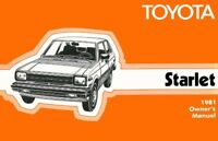 1981 Toyota Starlet Owners Manual User Guide Reference Operator Book Fuses Fluid