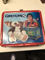 Vintage 1984 Gremlins Aladdin Brand Metal Lunchbox Warner Bros