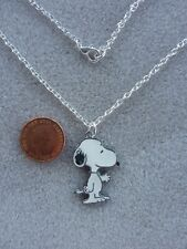 "Snoopy Enamel Charm Pendant Necklace 18"" Chain Birthday Gift Present # 336"