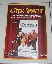 Dvd IL TEATRO PIEMONTESE Vol 1 Giromin a veul mariesse NUOVO Dino Belmondo