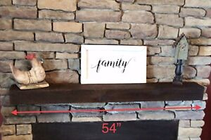 Authentic Vintage Rustic Reclaimed Old Salvage Barn Wood Fireplace Mantel Shelf