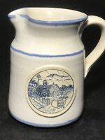 "VINTAGE 1988 MID-AMERICA DAIRYMEN Sunrise Farm Scene DENEEN Pottery 5"" PITCHER"