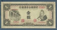China Federal Reserve Bank of China 1, 10 Yuan Set, 1941 1945, P J72 J86, VF VF+