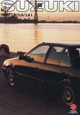 Suzuki Swift Prospekt 1989 Autoprospekt 32 S. Broschüre Auto brochure broschyr