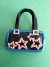 My Scene Barbie Bratz Doll Black Blue & Pink Purse Handbag