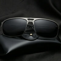 LE Polarized Driving Sunglasses Men Square Stainless Steel Goggle 2018 New Brand