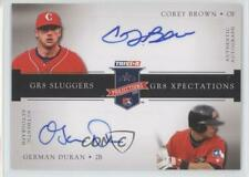 2008 PROjections GR8 Xpectations Dual Black 25 /25 Corey Brown German Duran Auto