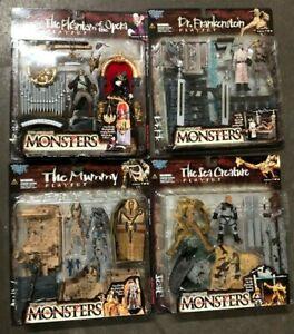 LOT OF 4 Todd Mcfarlane's Monsters Series 2 NIB Phantom, Frankenstein, Mummy...