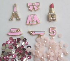 W64! pink Lipstick Shoes DIY Cell Phone Iphone4 4/5/6S Crystal Case-Deco Den Kit