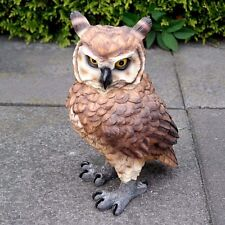 Eule Figur Uhu Kauz Vogel Tierfigur Gartendeko Dekoration Gartenfigur Greifvogel